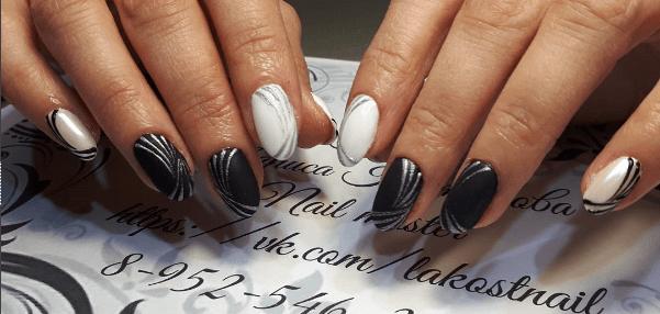 image4-2 | Черно-белая классика: идеи маникюра для элегантных девушек
