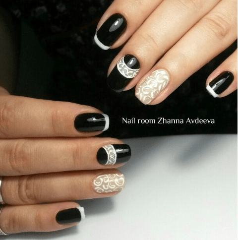 image5-4 | Черно-белая классика: идеи маникюра для элегантных девушек