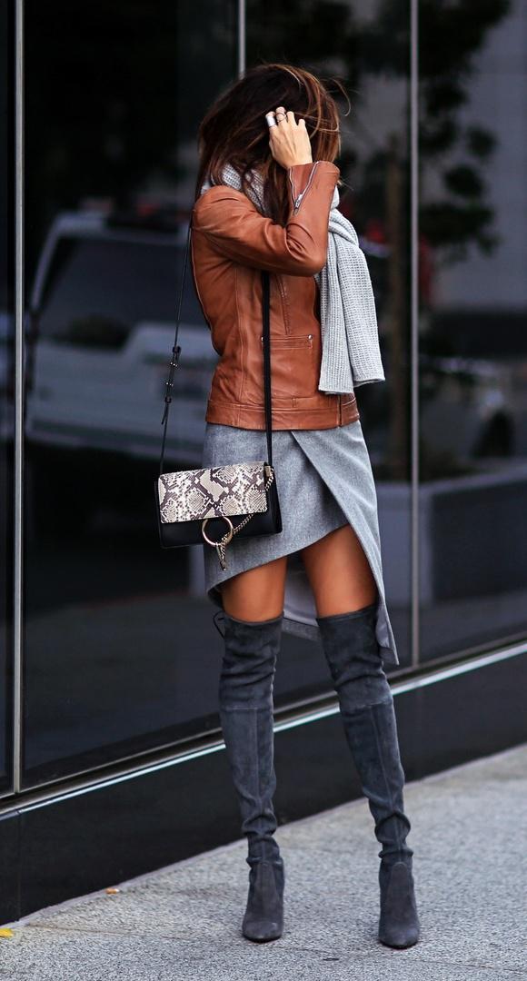 image5-59   27 стильных образов с юбками, которые заставят вас позабыть о брюках!