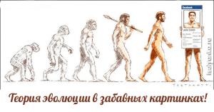 Теория эволюции в забавных картинках! Cмешно, и грустно…