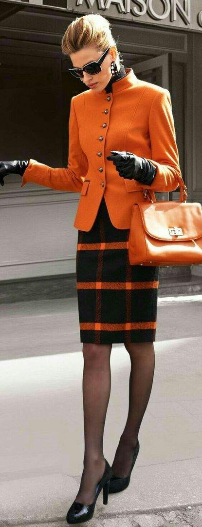 image10-54 | 20 стильных образов с юбкой и жакетом для деловых леди