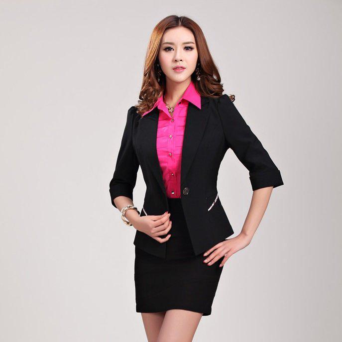 image15-40 | 20 стильных образов с юбкой и жакетом для деловых леди