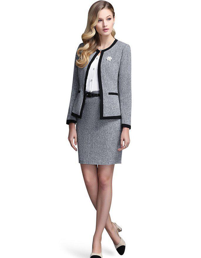 image16-32 | 20 стильных образов с юбкой и жакетом для деловых леди