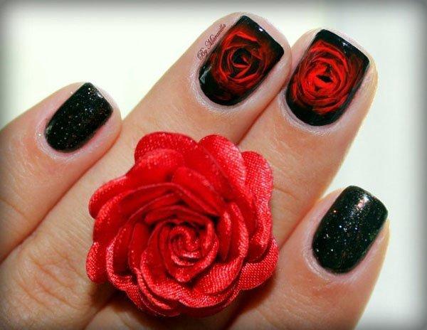 image3-95   Маникюр с розами: 20 очаровательных идей