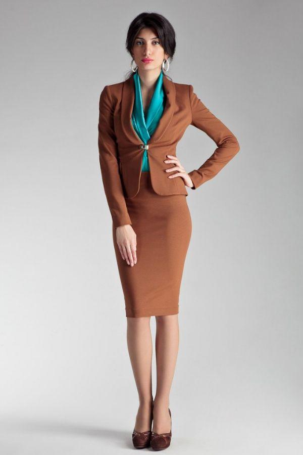 image6-74 | 20 стильных образов с юбкой и жакетом для деловых леди