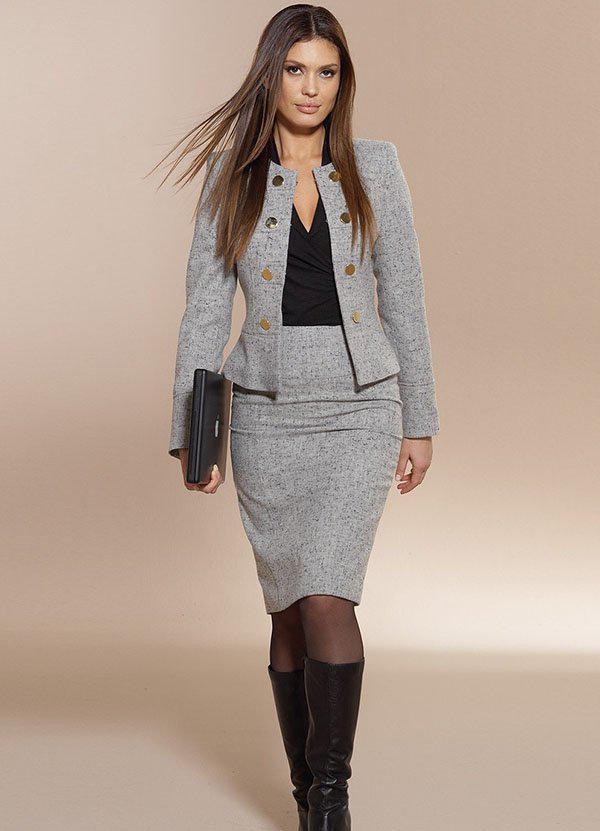 image1-216   20 стильных образов с юбкой для деловой леди
