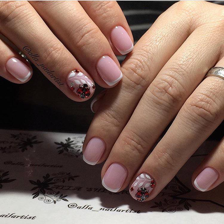 image10-52   Нежные идеи маникюра с дизайном в розовых оттенках