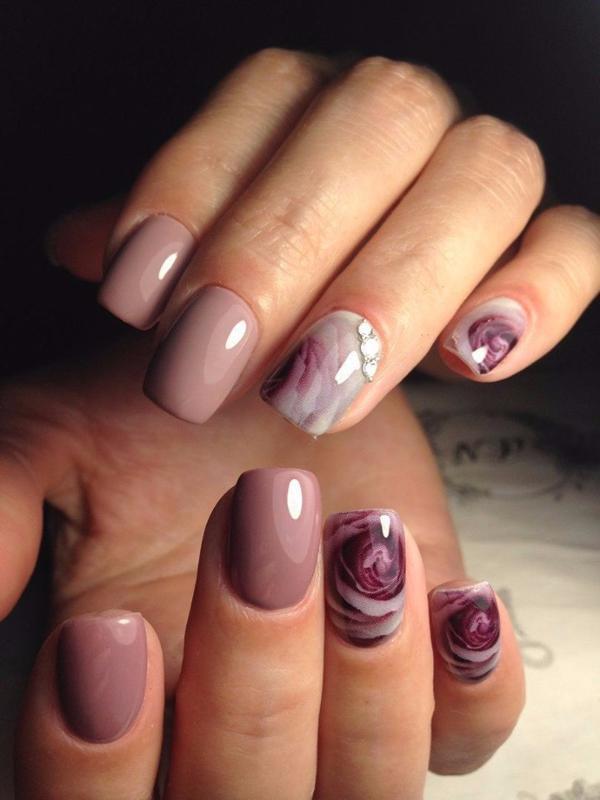 image13-60   Модный маникюр с дизайном на короткие ногти
