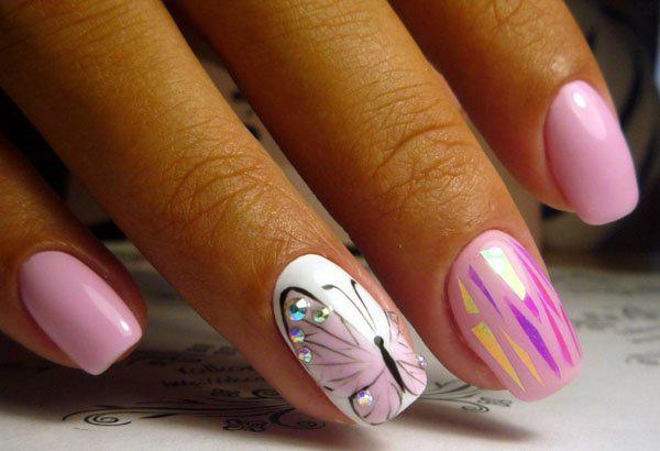 image16-36 | Восхитительный маникюр с дизайном «бабочка»