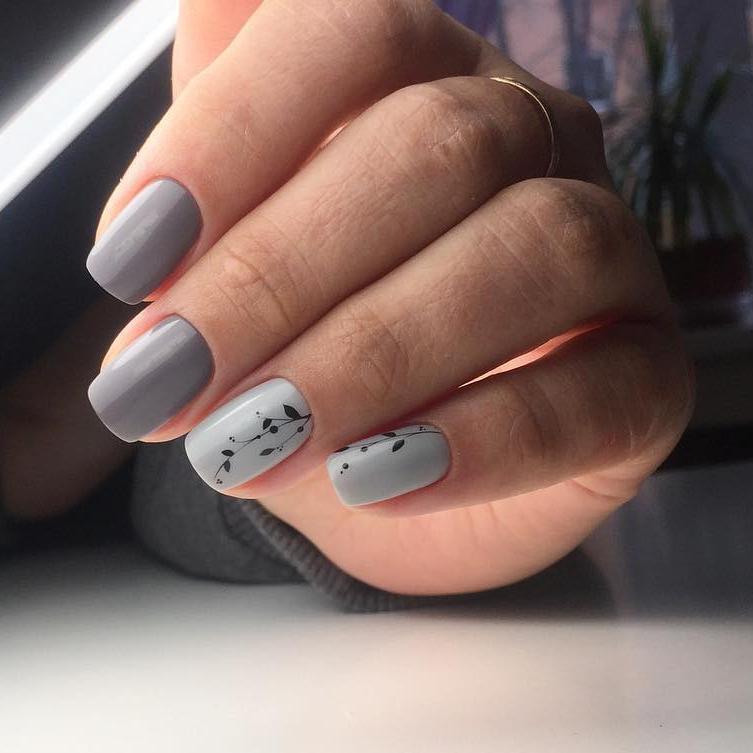 image18-35   50 оттенков серого в маникюре: стильные идеи модного элегантного маникюра!