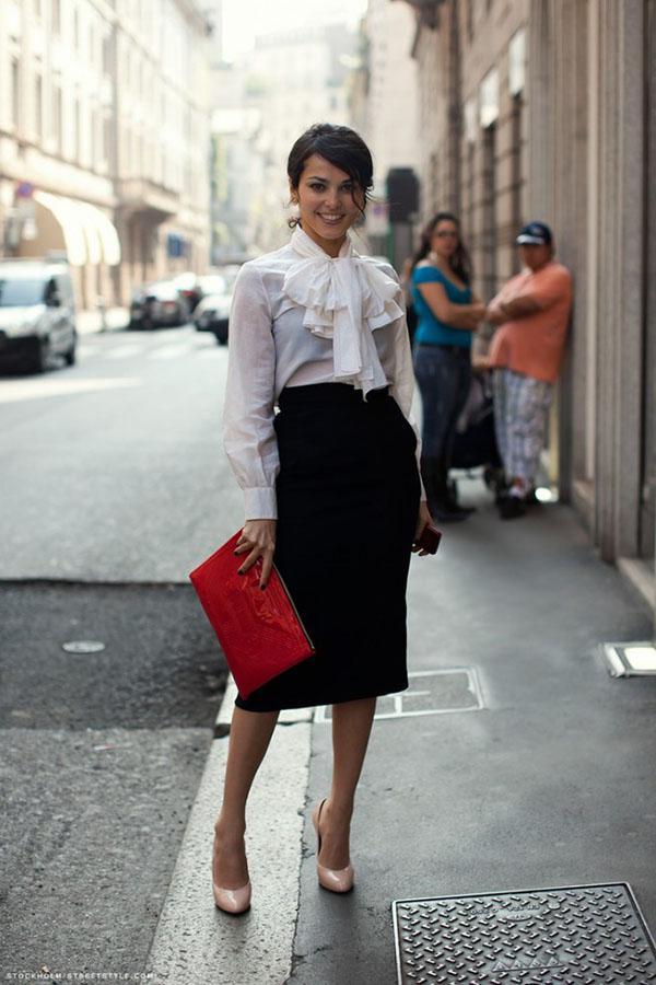 image2-167   20 стильных образов с юбкой для деловой леди