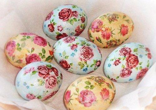 3ya | Как украсить пасхальные яйца в технике декупаж