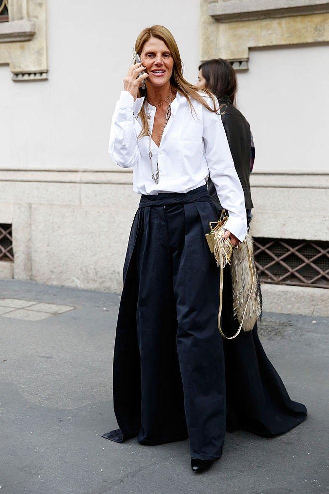 image12-68   8 стильных образов с черными брюками: модные тенденции весны 2018