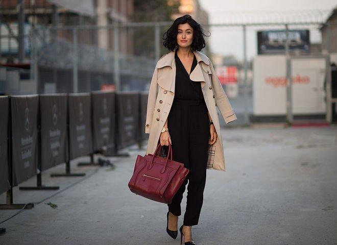 image22-32   8 стильных образов с черными брюками: модные тенденции весны 2018