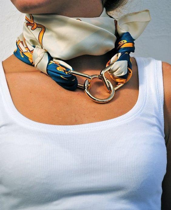 image22-7 | 24 оригинальные идеи, как превратить обычный шарф в колье