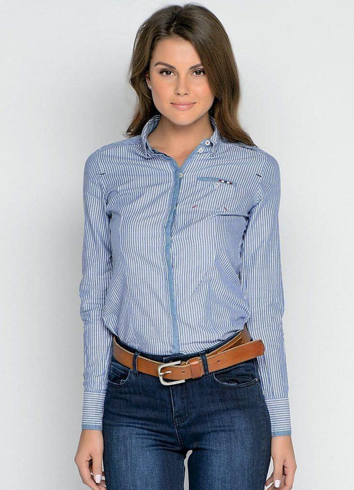 image26-8   Офисный стиль: как носить рубашку и не выглядеть скучной