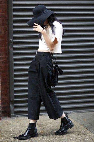 image3-118   8 стильных образов с черными брюками: модные тенденции весны 2018