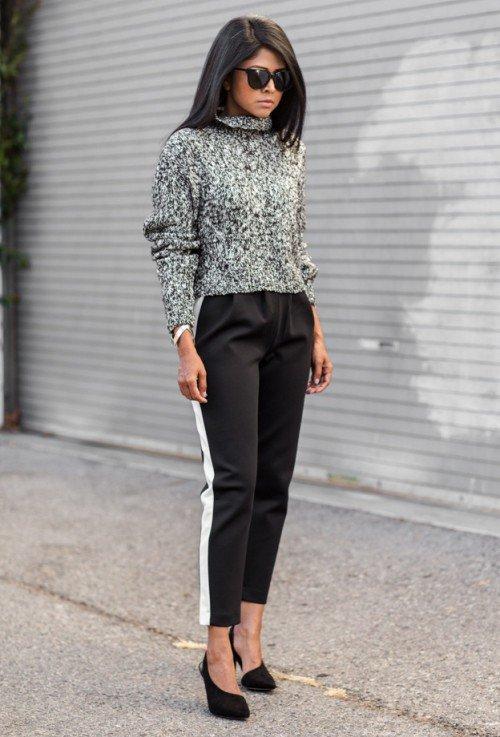 image37-6   8 стильных образов с черными брюками: модные тенденции весны 2018