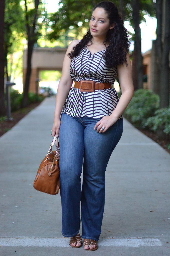 image1-12   Как девушкам размера plus-size выглядеть стильно в джинсах — 6 советов