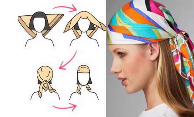 image19-6   Как красиво и оригинально повязать шарф или палантин на голову