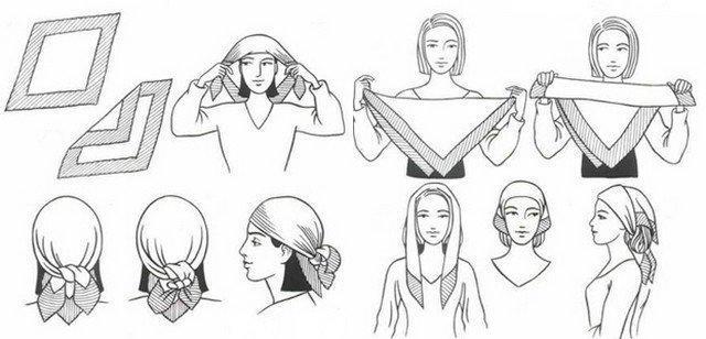 image20-6   Как красиво и оригинально повязать шарф или палантин на голову