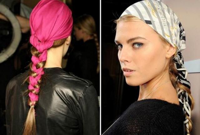 image22-4   Как красиво и оригинально повязать шарф или палантин на голову