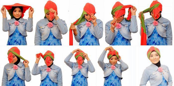 image36-1   Как красиво и оригинально повязать шарф или палантин на голову