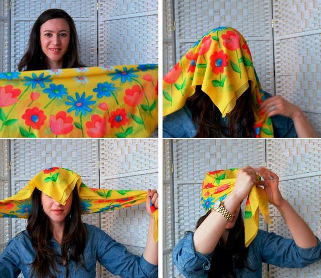 image38-1   Как красиво и оригинально повязать шарф или палантин на голову