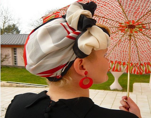 image40-1   Как красиво и оригинально повязать шарф или палантин на голову
