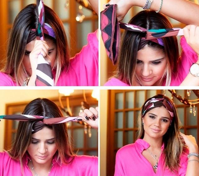 image7-7   Как красиво и оригинально повязать шарф или палантин на голову