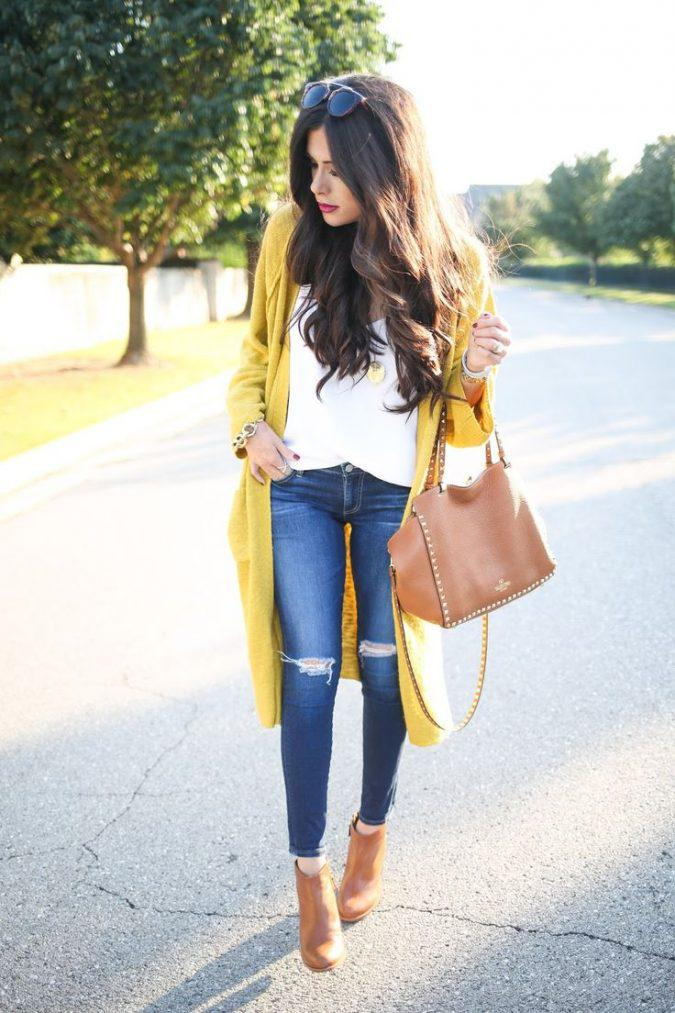 jeans-and-t-shirt-and-long-cardigan-women-summer-outfit-3-675x1013 | 10 прекрасных идей нарядов весны и лета 2018