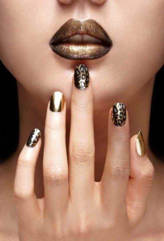 metallic-nails-3 | Тренды маникюра: ногти-металлик