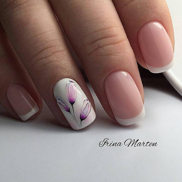 image4-9   Восхитительные варианты цветочного маникюра