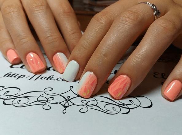 image16-1   Стильный маникюр на короткие ногти