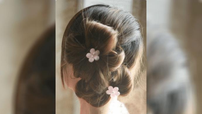 Простая но элегантная прическа-цветок своими руками