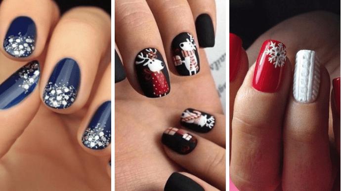 Прекрасный зимний и Новогодний маникюр с дизайном на ногти любой длины сезона 2018–2019