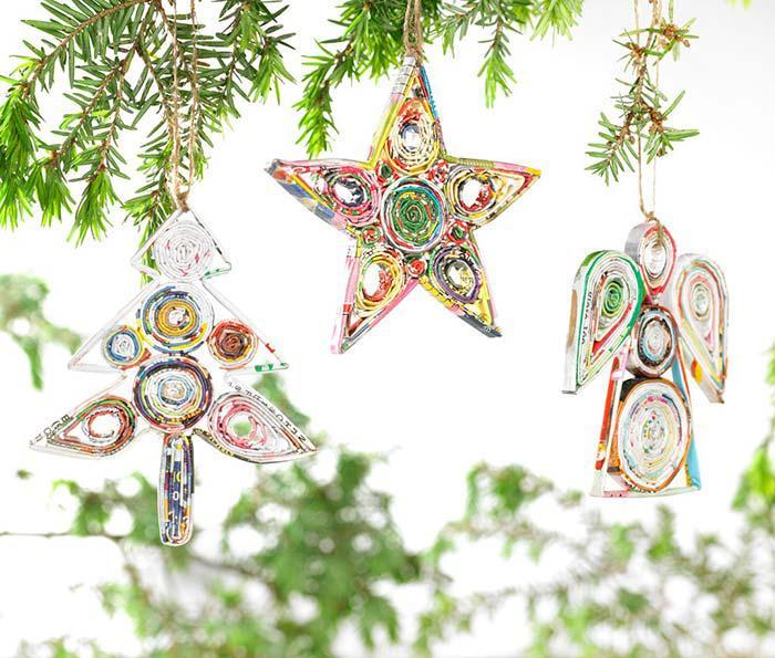 image22-1   Рождественские и Новогодние украшения из втросырья своими руками
