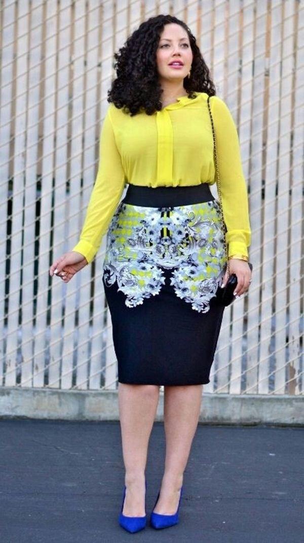 image22-11 | 39 стильных и элегантных платьев для полных женщин