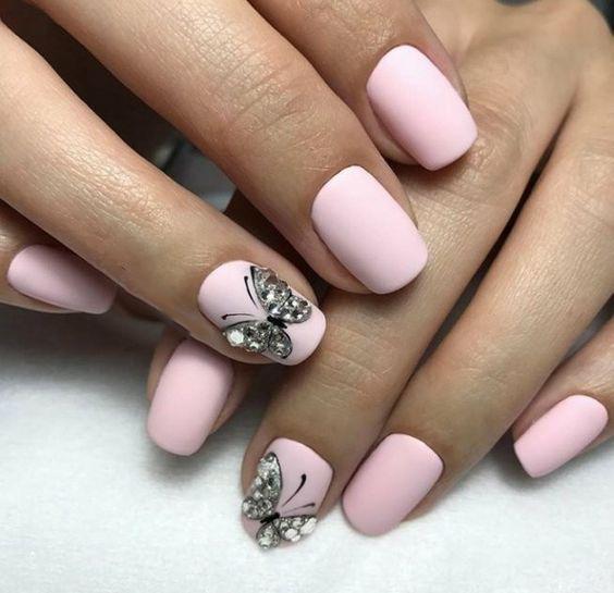 image9-29 | Идеи маникюра с бабочками на короткие ногти