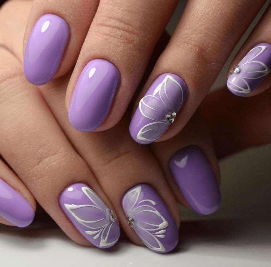 image11-1 | 10 идей фиолетового маникюра для любого случая