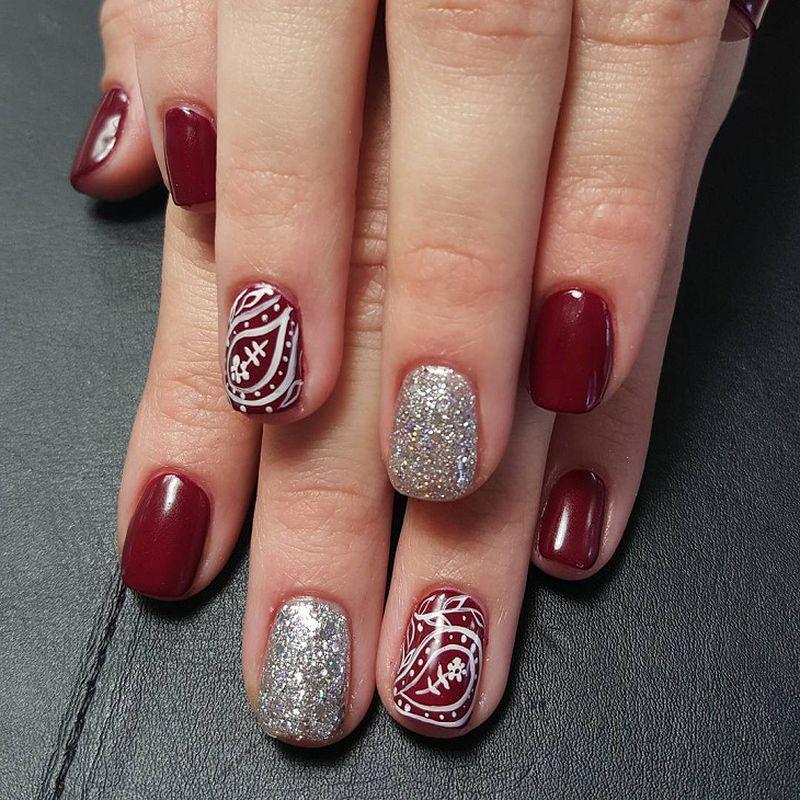 image25-26   Лучшие идеи красного маникюра на ногти любой длины