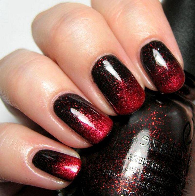 image26-26   Лучшие идеи красного маникюра на ногти любой длины