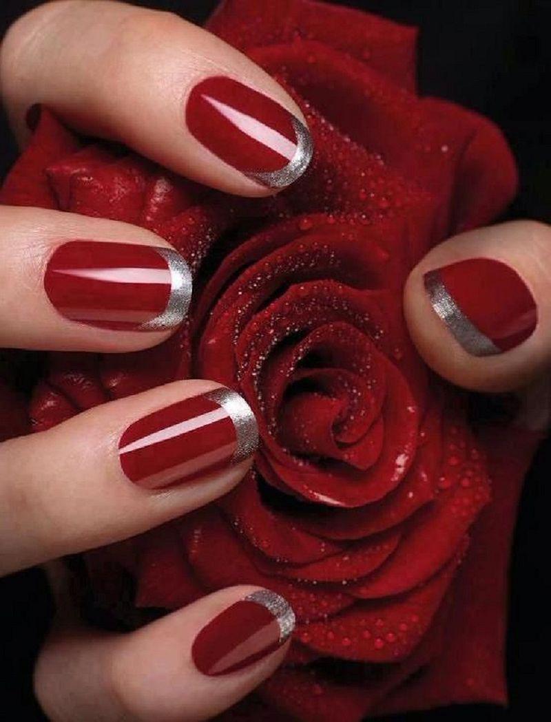 image29-23   Лучшие идеи красного маникюра на ногти любой длины