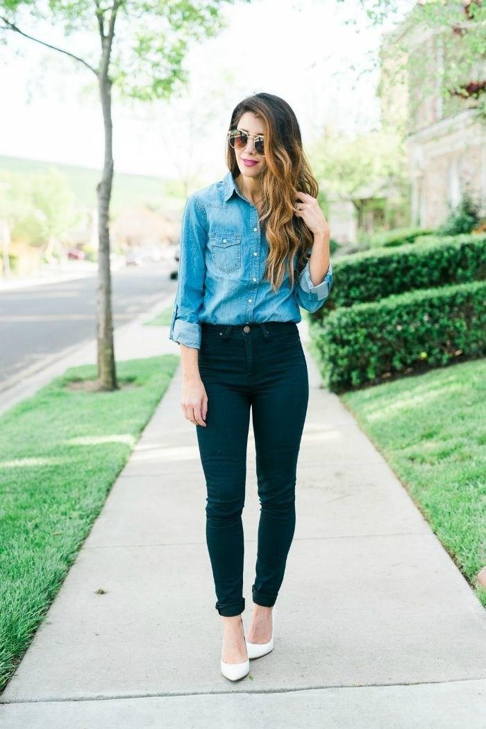 image4-13 | Как носить джинсы этой весной — 39 образов с фото