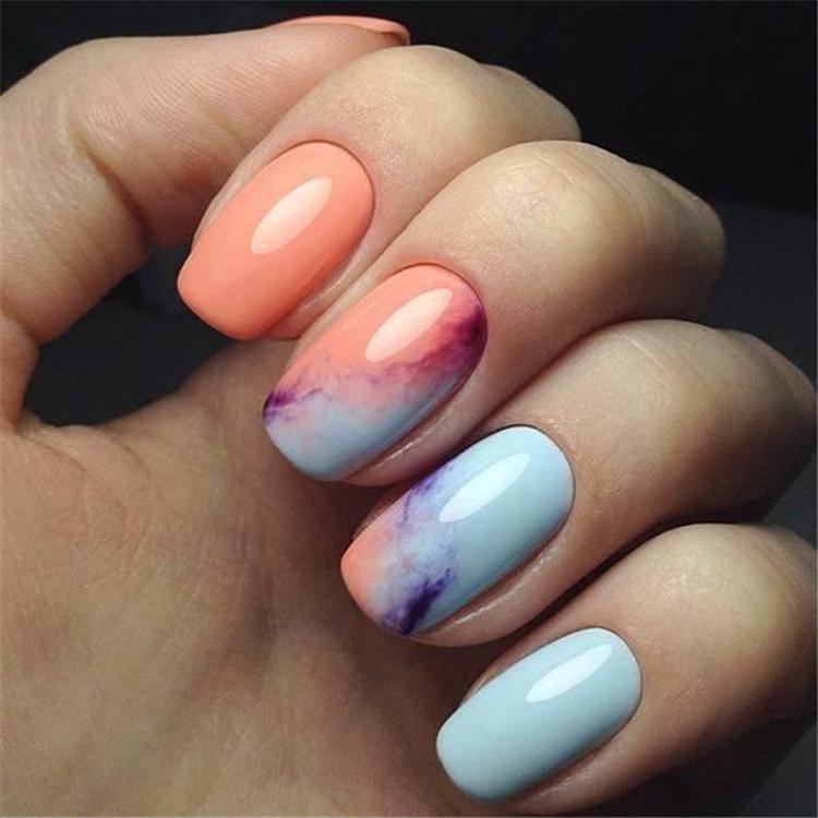 image6-5 | Нежно-голубой маникюр на короткие квадратные ногти