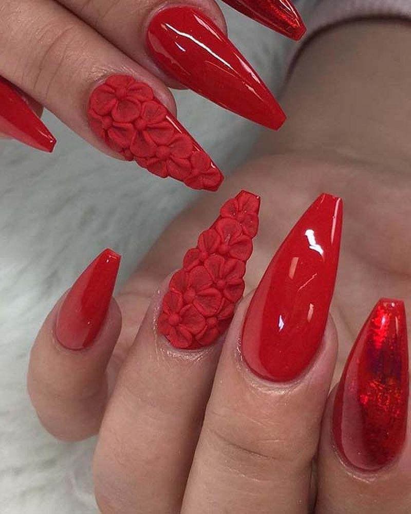 image7-32   Лучшие идеи красного маникюра на ногти любой длины