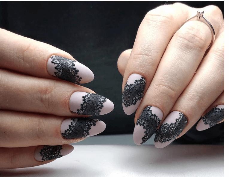 image1-4 | 38 идей матового маникюра на миндалевидные ногти