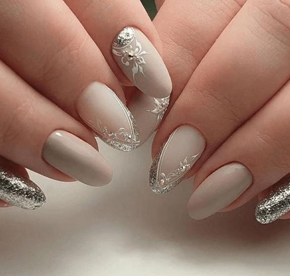 image13-4 | 38 идей матового маникюра на миндалевидные ногти