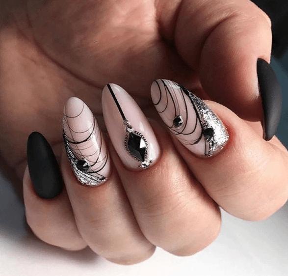 image19-4 | 38 идей матового маникюра на миндалевидные ногти