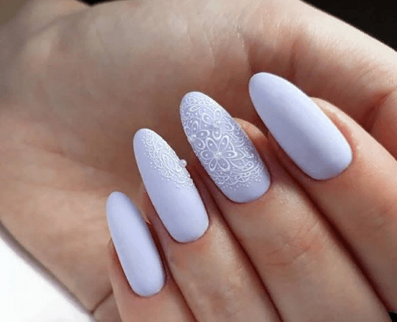 image23-4 | 38 идей матового маникюра на миндалевидные ногти